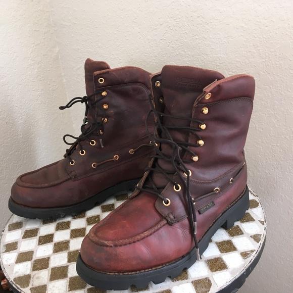 Chippewa Other - chippewa oxblood lace up hunting boots 10.5 w